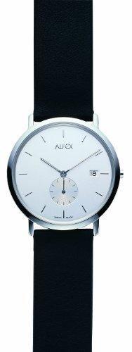 Alfex - 5468_005 - Montre Homme - Quartz Analogique - Bracelet Peau Noir