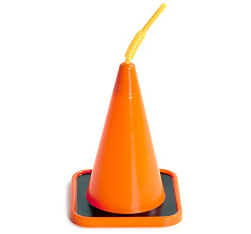 Construction Party Supplies - Construction Cone Sippy Cups (16) (Construction Cone Party compare prices)