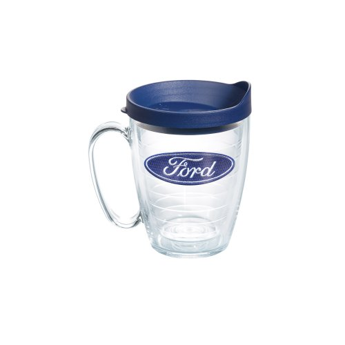 Tervis Tumbler/Mug with Navy Lid, 15-Ounce, Ford Logo (Tervis Tumbler 15oz With Lid compare prices)