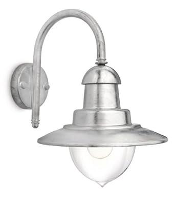 Philips 16520616 raindrop lanterne murale 1 x 60 w e27 for Luminaire exterieur zinc