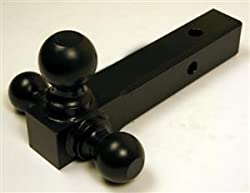 Black Tri-Ball Mount Hitch Mount Balls Truck, Trailer, Boat, RV
