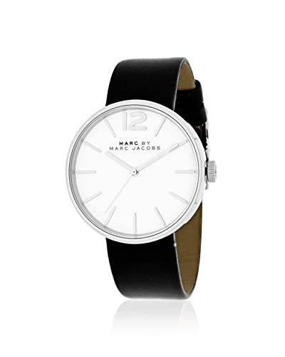 Marc by Marc Jacobs Women's MBM1365 Black/White Leather Watch