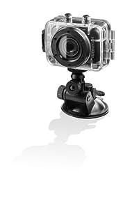 Hyundai Multi Sports ACT-V-10003 Camcorder (5,1 cm (2 Zoll) LCD-Display, 5 Megapixel, 2-fach dig. Zoom, microSD-Kartenslot, USB 2.0) schwarz