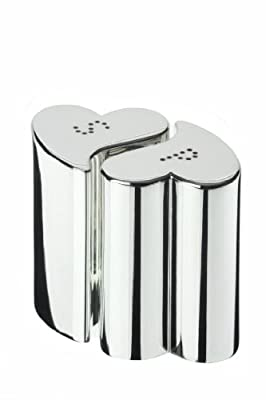 Present Day Designer Silver Plated Salt and Pepper Pots