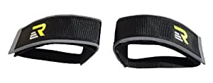 Retrospec Fixed-Gear Track BMX-Style Foot Retention FGFS Velcro Straps with Reflective Fabric, Black