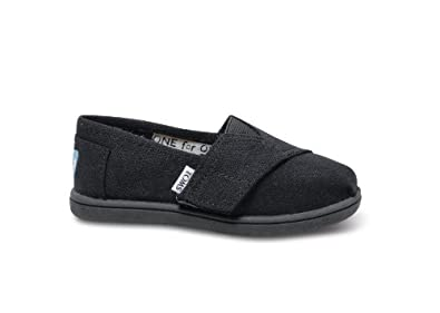 Toms New Classic slip on Shoes Infants girls size 4.0 Black