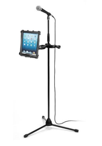 "Yoke Clamp Mike Microphone Stand Mount Holder For Apple Ipad 1 2 3 & 10"" Tablets"