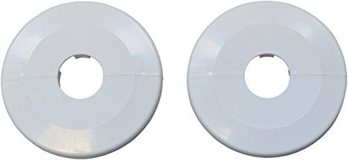 Klapprosette 28 mm, zweiteilig, weiß, 1846094