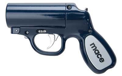 Mace Brand Pepper Gun w/ Cartridges- Blue/Black Color