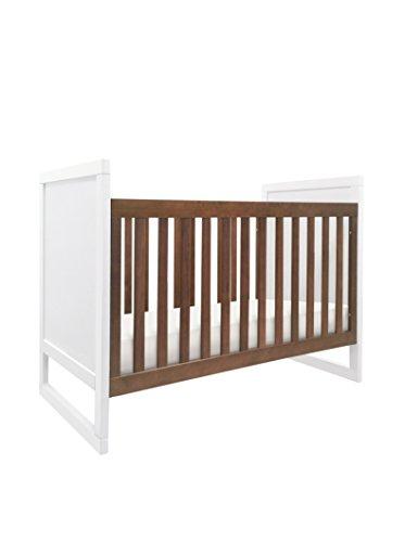 Babyletto Kid's Modena Mod Two-Tone 3-in-1 Convertible Crib, White/Walnut
