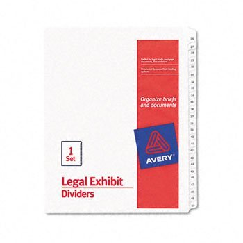 Avery® White Legal Index Dividers INDEX,ALLSTATE 26-50,WHT