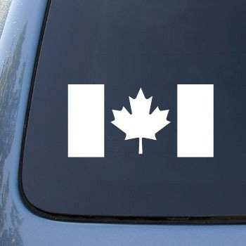 CANADA FLAG CANADIAN - Car, Truck, Notebook, Vinyl Decal Sticker #1962 | Vinyl Color: White
