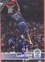 Isaiah Rider Minnesota Timberwolves 1994 Skybox Autographed Hand Signed Trading Card. by Hall+of+Fame+Memorabilia
