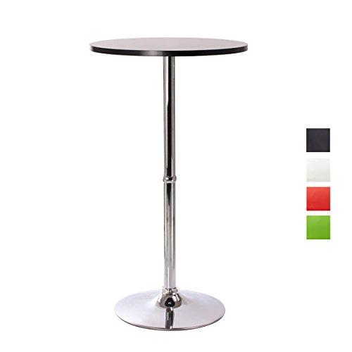 Bartisch-Stehtisch-Schwarz-aus-Holz-MDF-Bistrotisch-Tisch-Hochtisch-Hhe-108cm-Farbwahl