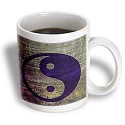 3Drose Purple Abstract Yin Yang Balance Inspirational Spirituality Ceramic Mug, 11-Ounce