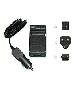 Travel Camera Battery Charger for Panasonic SDR-S26 Camcorder - UK, USA and EU plugs included - AAA Products - 12 Month Warranty