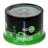 Maxell - 50 x DVD R - 4.7 GB 16x - white - spindle - storage media