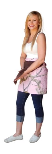 Realtree Pink Apron Womens Ap Pink Camo Waist Apron With Attached Towel front-647160