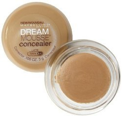 Maybelline Dream Mousse Concealer Corrector, Latte Dark 0-1 .11 oz (3 g)