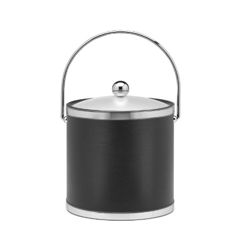 Kraftware Ice Bucket With Bale Handle And Lucite Cover - 3 Quart