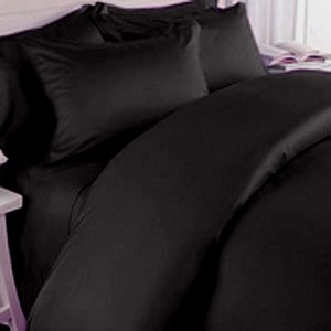 Black Queen Bed Set 5336 front