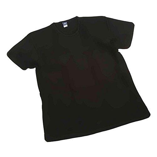 Maglia t-shirt intimo taglie forti uomo girocollo Maxfort 501 - 3 pezzi - Nero, 5XL