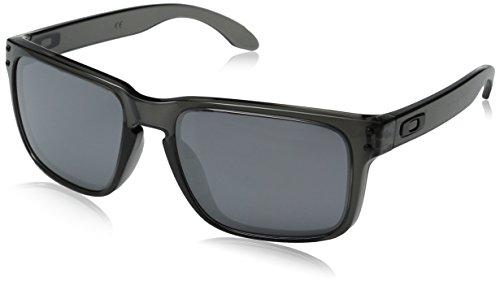 Oakley MOD. 9102, Occhiale da Sole, GREY SMOKE/BLACK IRIDIUM/Black Iridium (S3), Taglia Unica