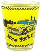 New York Shot Glass - NYC Taxi, New York Shot Glasses, New York City Souvenirs