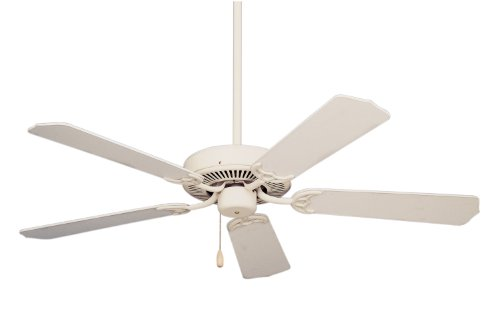 Emerson CF700AW Builder Indoor Ceiling Fan, 52-Inch Blade Span, Summer White Finish and Summer White/Bleached Oak Blades