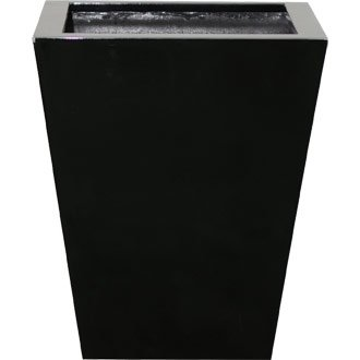 Black Floor Planters for 3 or 4ft plants - stylish and durable pots for indoors or outdoors