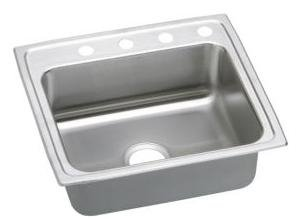 Elkao|#Elkay LRAD252150X-CU 18 Gauge Cuverro Antimicrobial copper 25 Inch x 21.25 Inch x 5 Inch single Bowl Top Mount Sink,