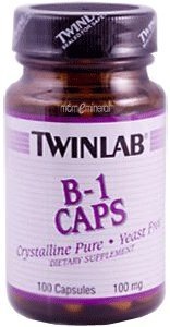 B-1 Capsules, 100 mg, 100 Capsules by Twinlab