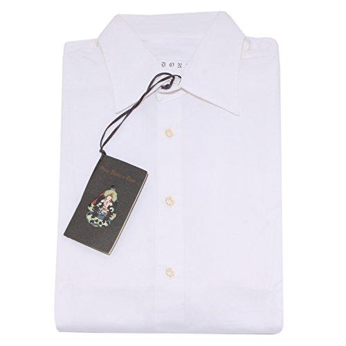 23892 camicia uomo DONDUP bianco shirt men long sleeve [XL]
