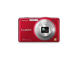 Panasonic Lumix SZ1 16.1 MP Digital Camera with 10x Optical Zoom (Red)