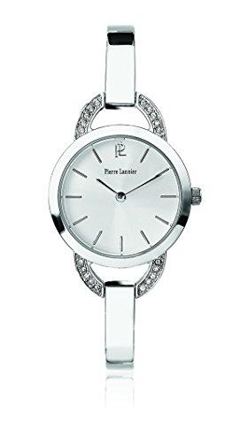 Pierre Lannier - 035P621 - Tendance - Montre Femme - Quartz Analogique - Cadran Blanc - Bracelet Acier Argent