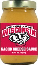 Wisconsin Badgers NCAA Nacho Cheese Sauce (16oz) by Hot Sauce Harry's