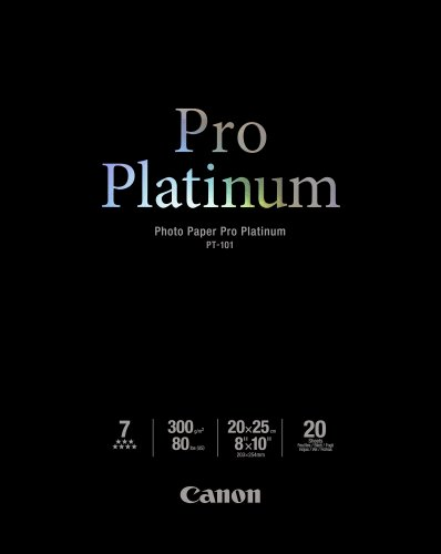 Canon Photo Paper Pro Platinum, 8 X 10 Inches, 20 Sheets (2768B019)