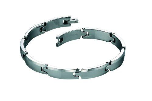 Fred Bennett Stainless Steel Mens B3519 Tungsten Link Bracelet of 23cm