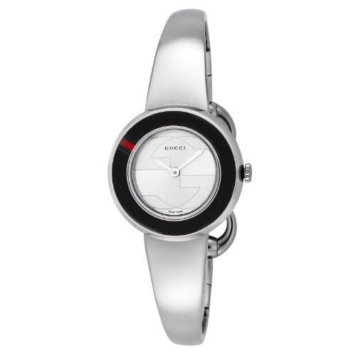 [グッチ]GUCCI 腕時計 U-PLAY シルバー文字盤 付替用革ベルト&ベゼルセット YA129515-SET-BKGBG-WHT レディース 【並行輸入品】