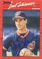 Joel Skinner Cleveland Indians 1990 Donruss Autographed Hand Signed Trading Card. by Hall+of+Fame+Memorabilia