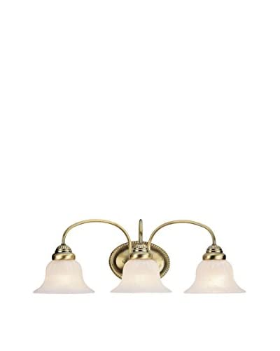 Crestwood Eloise 3-Light Sconce, Antique Brass