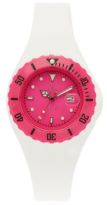 Toy Watch Pink Mini Jelly Case White Mini Jelly Strap