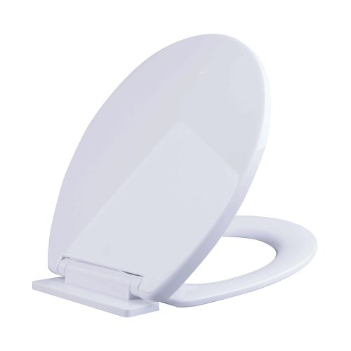 Slow Closing Toilet Seat in White