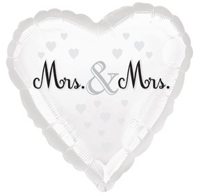 "18"" Celebrate Love Mrs. & Mrs. Lesbian Wedding Balloon"