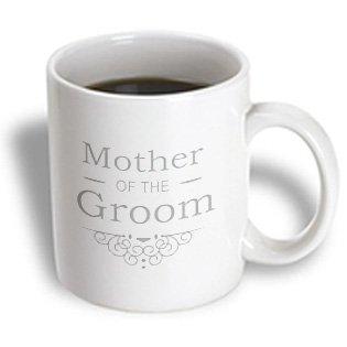 3Drose Mother Of The Groom, Silver Wedding, Matching Marriage Set, Grey Swirls, Ceramic Mug, 11-Oz