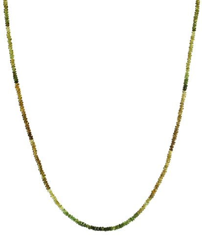 Vesonite Garnet Rondelle with 14K Gold Spring Ring Clasp Necklace, 16