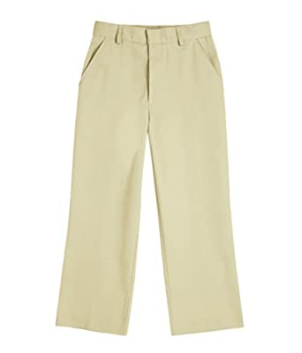 Windstan Boys Flat Front Pants 2 Khaki