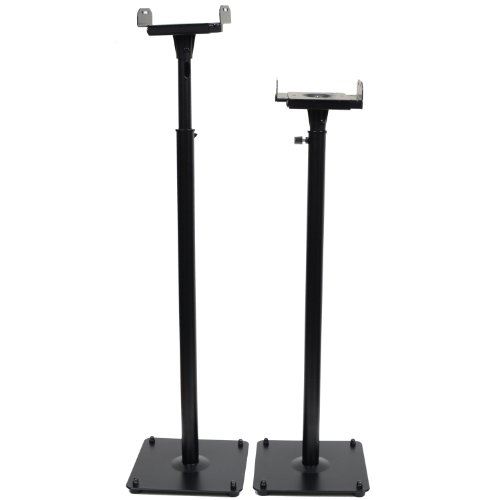 Videosecu 2 Adjustable Height And Palte Speaker Stands Ms07B 1B5