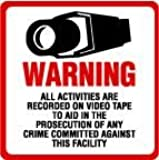 "2 Pack Commercial Grade Outdoor / Indoor Security Surveillance CCTV Video Warning Decal - Deterrence, Security, Safety 4""x4"""