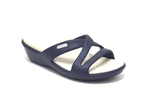 Crocs scarpe donna, modello Patricia, pantofola mare in gomma, colore blu